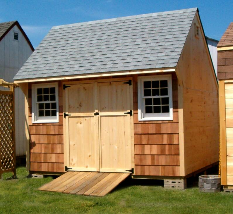 Saltbox Storage Shed