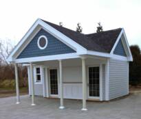 custom built storage shed
