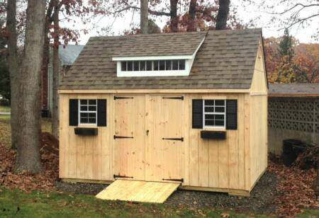steep gable end shed